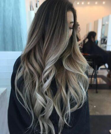 Окрашивание балаяж на длинные волосы. Натуральный оттенок