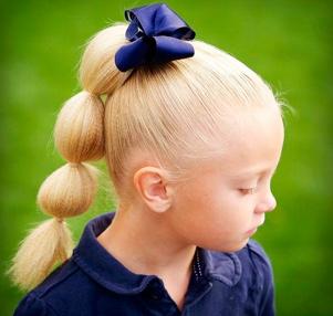 прически на длинные волосы для девочек. Хвост